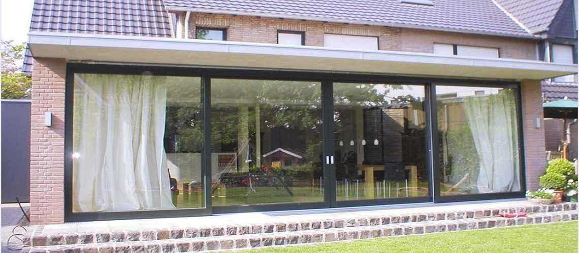 Hebeschiebetüren und Faltschiebetüren - Holzfensterbau Bergers